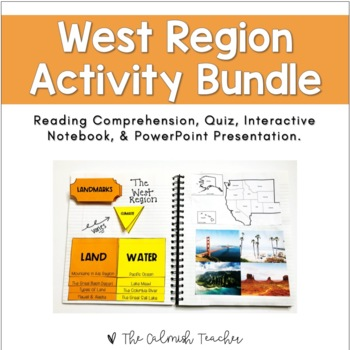 Regions of the United States: West Region Activity Bundle