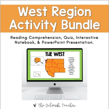Regions of the United States: West Region Activity Bundle