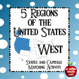 Regions of the United States - West - States Matching Puzzle Activity