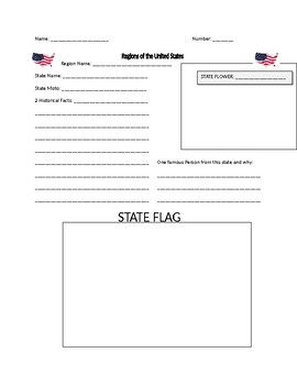 Regions of the United States book template