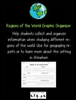Regions of the World Graphic Organizer