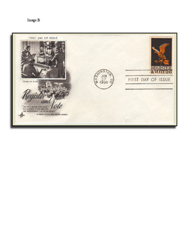 Register and Vote! Using First Day Covers