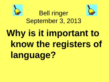 Registers of Language