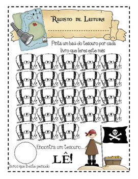 Registo da leitura - Tema Piratas