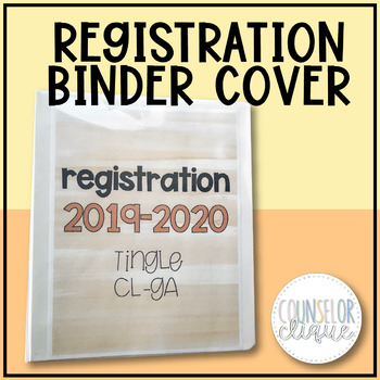 Registration Binder Cover