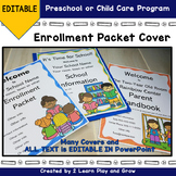 Registration Packet Cover for Preschool or Child Care