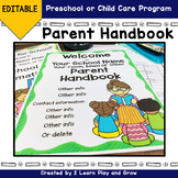 Parent Handbook for Preschool or Child Care