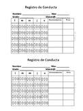 Registro de Conducta Mensual
