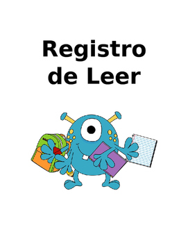 Registro de Leer SPANISH/ Reading Log