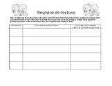 Registro de lectura/Reading Log