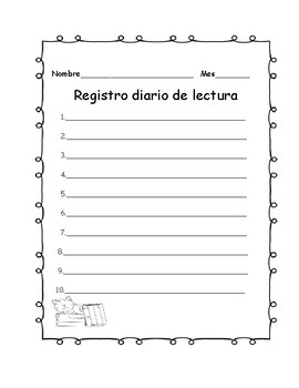 Registro diario de lectura