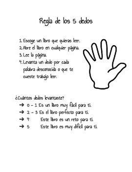 Regla de los 5 dedos para escoger un libro para leer