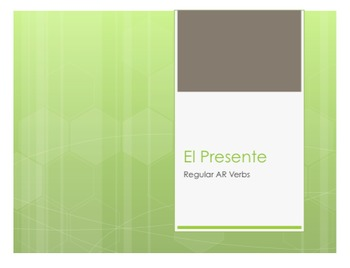Spanish Present Tense Regular AR Notes