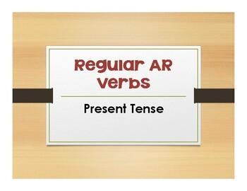 Spanish Present Tense Regular AR Notes