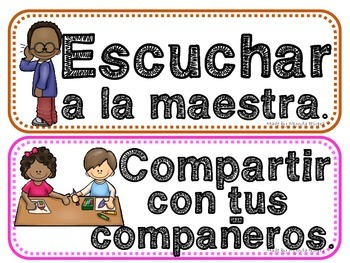 Reglas (Classroom Rules in Spanish)