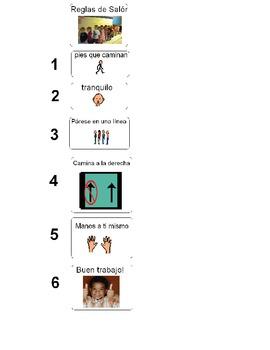 Reglas Hall - Impartidas visualmente