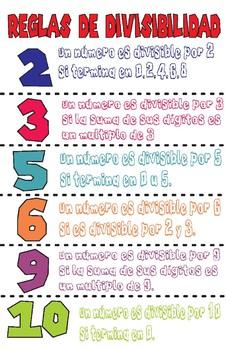 Reglas de Divisibilidad 11 x 17