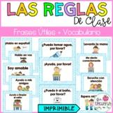 Classroom rules in Spanish/ Reglas de clase/ Frases útiles