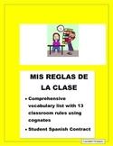 Reglas de la Clase- Classroom Rules in Spanish using Cognates/ Student Contract