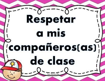 Reglas de la clase - Classroom rules - Spanish