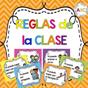 Reglas de la clase (Spanish poster set - chevron)