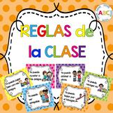 Reglas de la clase (Spanish poster set - polka dot)