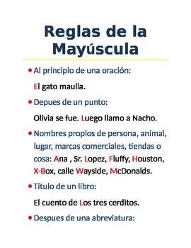 Reglas de la mayuscula en espanol