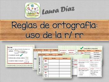 Reglas de ortografia: uso de la R y RR