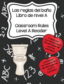Reglas del Baño - Bathroom Rules Reader English and Spanish