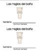 Reglas del Baño - Reader in Spanish Only