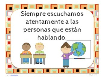 Reglas del Salón Pósters- Classroom Rules in Spanish