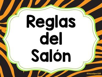 Reglas del Salón - Safari