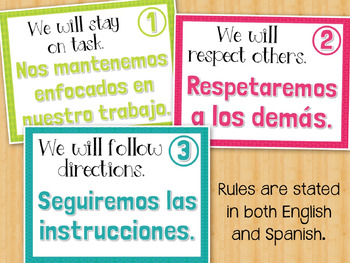 Reglas del aula: Classroom Rules in Spanish & English