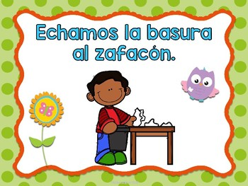 Reglas del salón - Búhos (Spanish class rules owls)