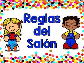 Reglas del salón - Confetti (spanish class rules)
