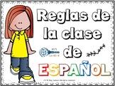 Reglas en la clase de español editable / Rules for Spanish class