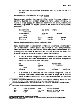 Acentuación ortográfica-Reglas especiales sobre las palabras compuestas
