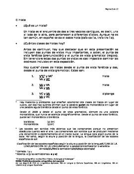Acentuación ortográfica-Reglas especiales para los hiatos diptongos y triptongos