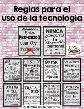 Reglas para el uso de la tecnologia
