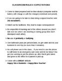 Reglas y expectativas de la clase Classroom rules expectat