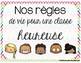 Règles de vie // Class rules French product