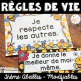 Règles de vie - Classroom Rules - Thème: abeilles