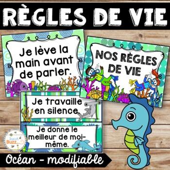 Règles de vie - Classroom Rules - Thème: océan