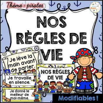 Règles de vie - Classroom Rules - Thème: pirates