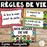 Règles de vie - Classroom Rules - Thème: pois