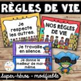 Règles de vie - Classroom Rules - Thème: super-héros