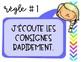 Règles de vie colorées et vibrantes // FRENCH CLASSROOM RULES