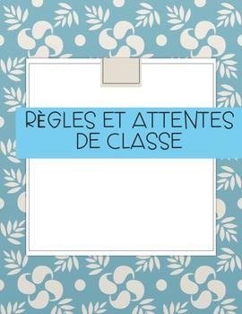 Règles et Attentes de Class