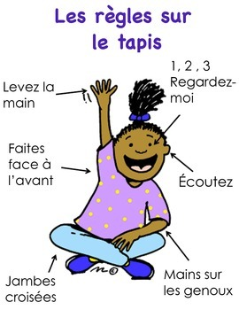 Règles sur le tapis - French Carpet Rules Poster