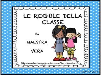 Regole Della Classe Classroom Rules Italian By Maestra Ve Tpt